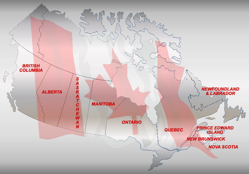 ProUnions Web Map Of Canada - Canada and us map